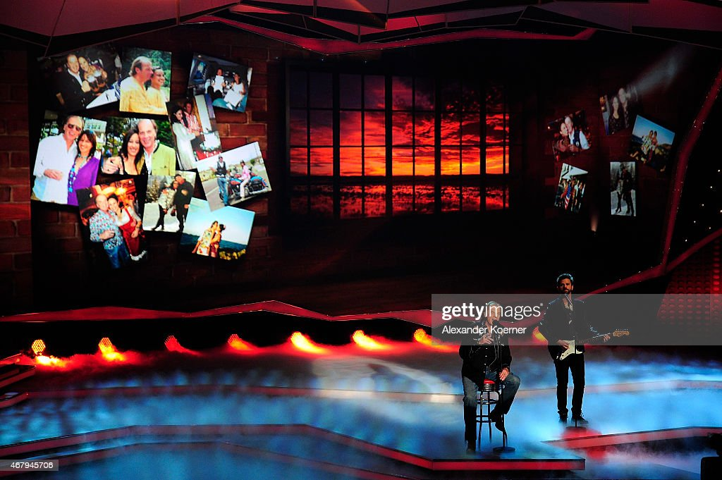 Wolfgang Fierek performs during the national tv show 'Willkommen bei Carmen Nebel' at TUI Arena on March 28, 2015 in Hanover, Germany.