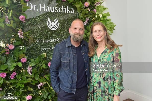 Wolfgang Fischer and Mariette Rissenbeek attend German Films X Dr Hauschka Reception at the 43rd Toronto International Film Festival on September 9...