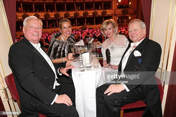 Wolfgang G Koehne and his wife Constanze Koehne Wolfgang Porsche and his partner Claudia Huebner during the Opera Ball Vienna 2016 at Vienna State...