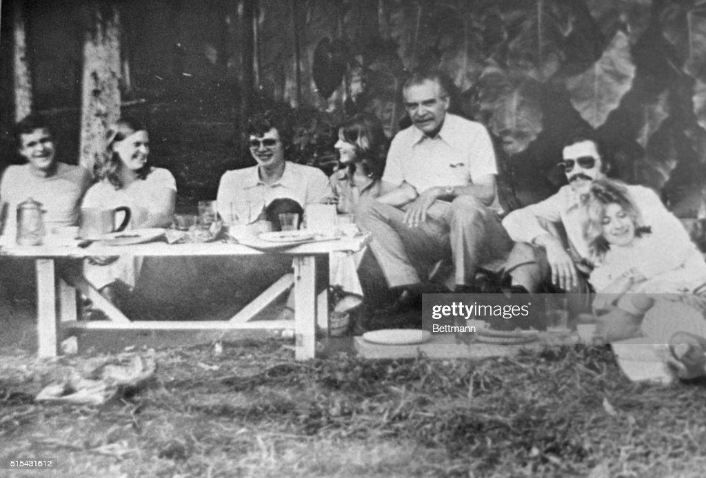 Josef Mengele With Friends : News Photo