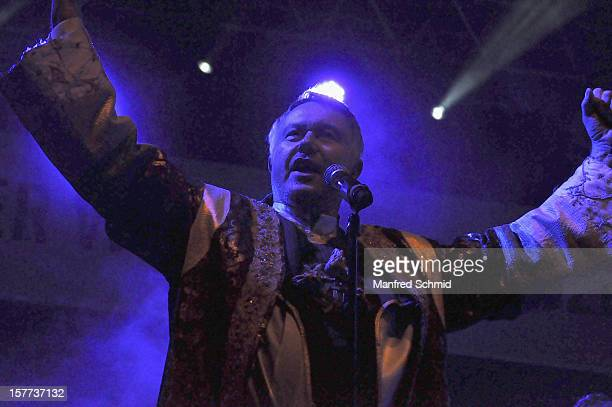 Wolfgang Heichel of Dschingiskaan performs onstage during the Dschingiskaan Concert at Kaiserwiese Prater on May 1 2012 in Vienna Austria