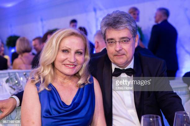 Wolfgang Hesoun with his wife Brigitte during the Fete Imperiale 2018 on June 29 2018 in Vienna Austria