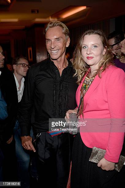 Wolfgang Joop and Florentine Joop attend the GQ Fashion Cocktail Stue Hotel on July 4, 2013 in Berlin, Germany.