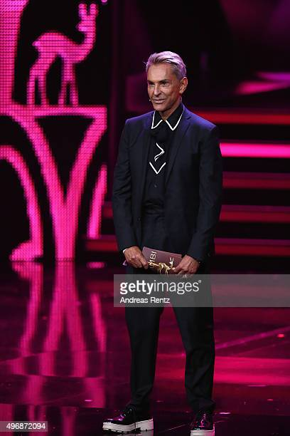 Wolfgang Joop is seen on stage during the Bambi Awards 2015 show at Stage Theater on November 12 2015 in Berlin Germany