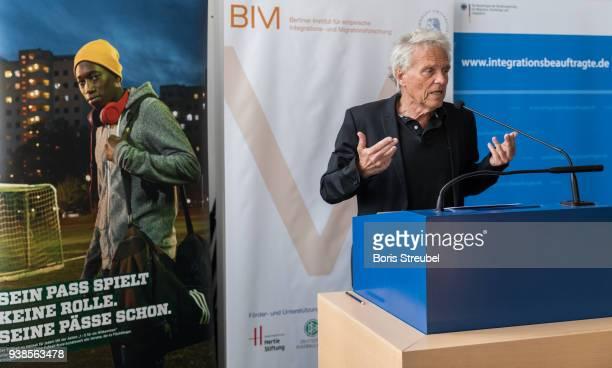 Wolfgang Kaschuba director of BIM holds a speech during the DFB Integration Congress a conference under the slogan ' Angekommen im Verein Ehrenamt...