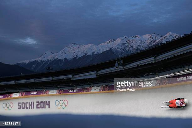 Wolfgang Kindl of Austria makes a run during the Luge Men's Singles on Day 1 of the Sochi 2014 Winter Olympics at the Sliding Center Sanki on...