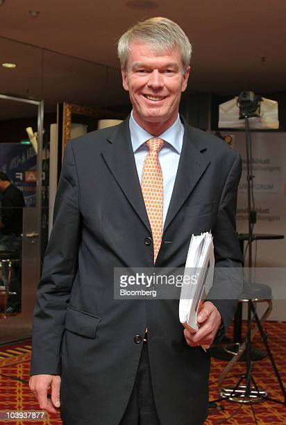 Wolfgang Kirsch chief executive officer of DZ Bank AG walks to a meeting at the Banks in Crisis conference in Frankfurt Germany on Thursday Sept 9...