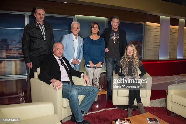 Wolfgang Koedel Nino de Angelo Sandra Maischberger Eike Immel Ronald B Schill and Yvonne Holthaus attend the 'Menschen bei Maischberger' TV Show at...
