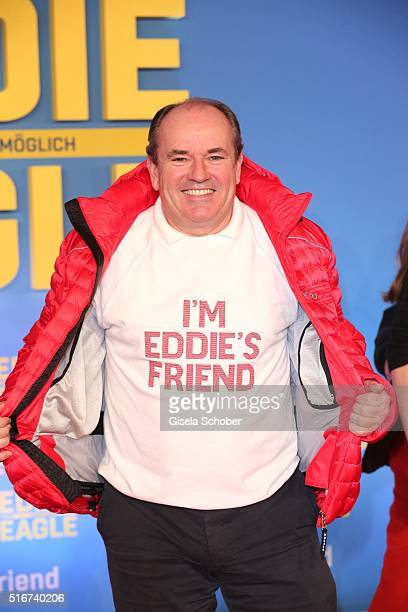 Wolfgang Kons during the 'Eddie the Eagle' premiere at Mathaeser Filmpalast on March 20 2016 in Munich Germany