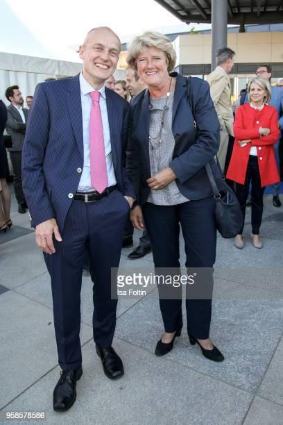 Wolfgang Krach chief editor Sueddeutsche Zeitung and German politician Monika Gruetters during the 13th Long Night of the Sueddeutsche Zeitung at...