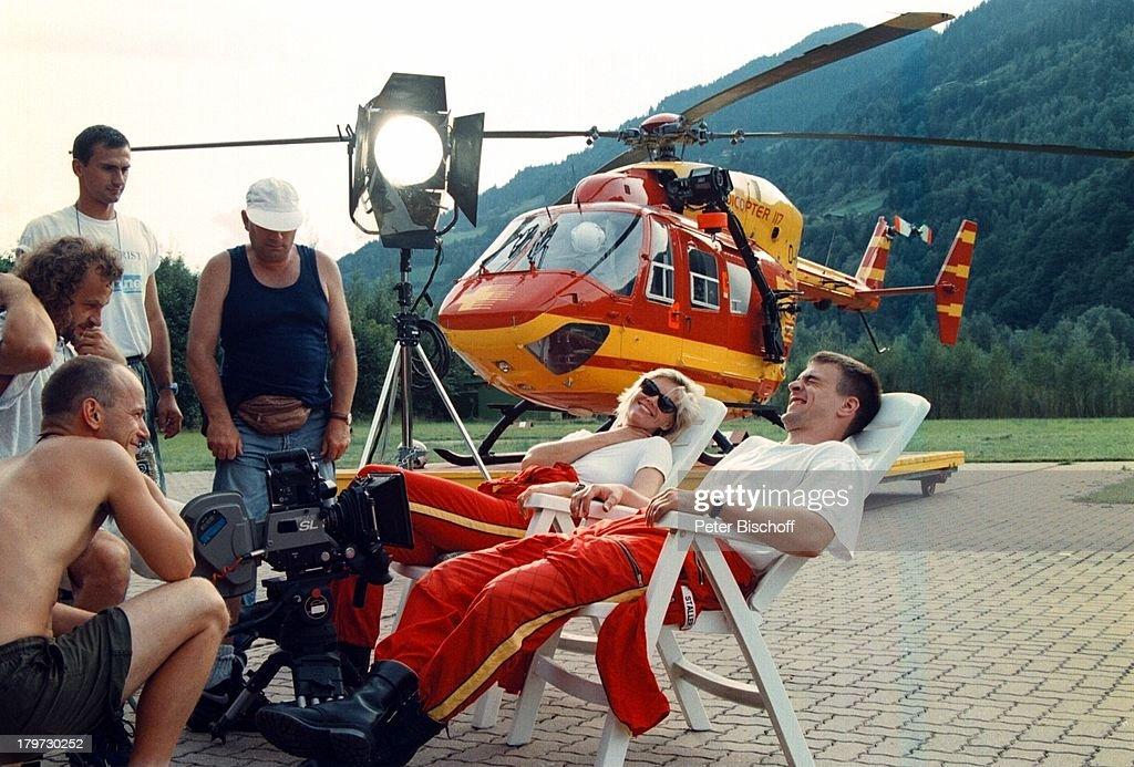 Wolfgang Krewe Anja FreeseRTLActionSerie 'Medicopter 117'Hubschrauber