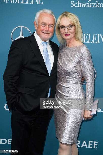 Wolfgang Kubicki and Annette MarberthKubicki arrive for the Tribute To Bambi at Kraftwerk Mitte on October 18 2018 in Berlin Germany