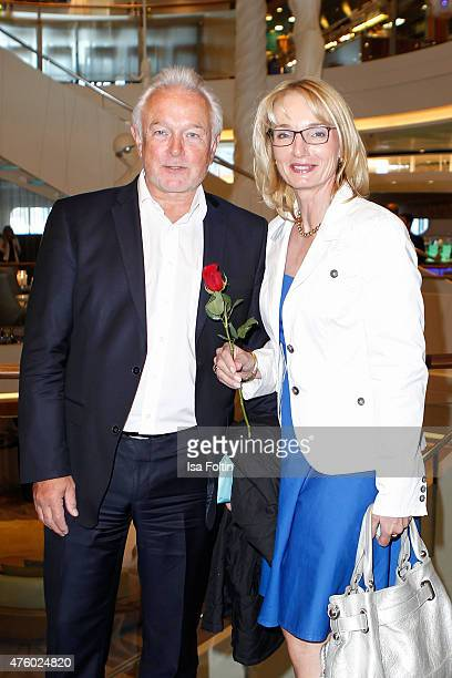 Wolfgang Kubicki and Annette MarberthKubicki during the naming ceremony of the cruise ship 'Mein Schiff 4' on June 5 2015 in Kiel Germany