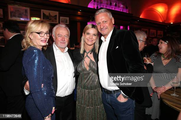 Wolfgang Kubicki and his wife Annette Marberth Kubicki and Stefan Bloecher and his girlfriend Anna Posch during the Lambertz Monday Night 2020 Wild...