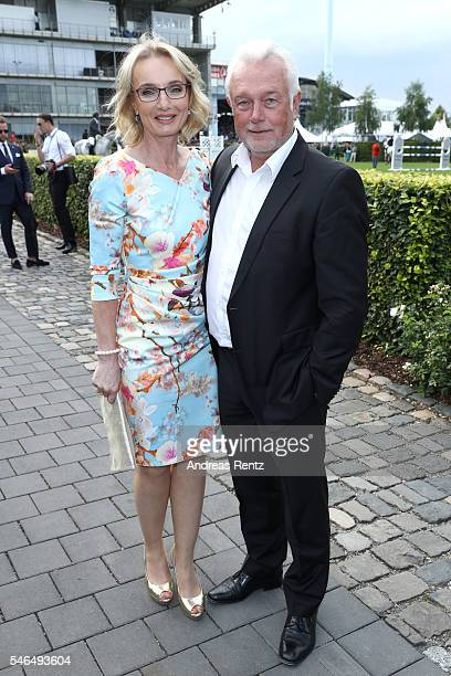 Wolfgang Kubicki and his wife Annette MarberthKubicki attend the media night of the CHIO 2016 on July 12 2016 in Aachen Germany