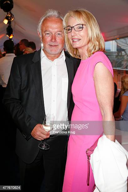 Wolfgang Kubicki and his wife Annette MarberthKubicki attend the Bertelsmann Summer Party on June 18 2015 in Berlin Germany