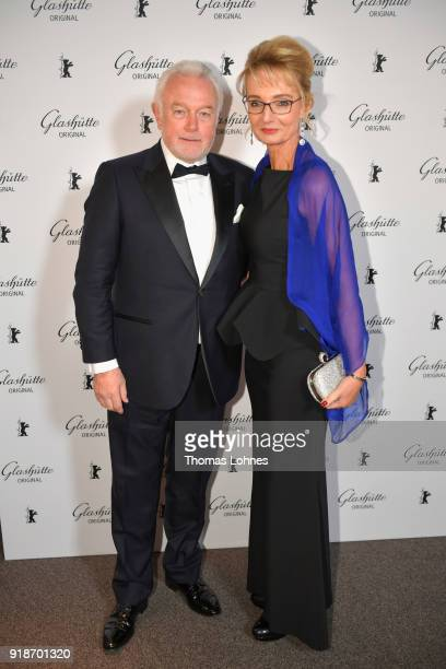 Wolfgang Kubicki and his wife Annette MarberthKubicki attend the Glashuette Original Lounge at The 68th Berlinale International Film Festival at...