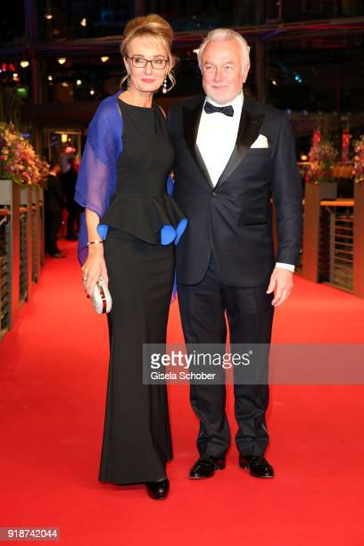 Wolfgang Kubicki and his wife Annette MarberthKubicki attend the Opening Ceremony 'Isle of Dogs' premiere during the 68th Berlinale International...