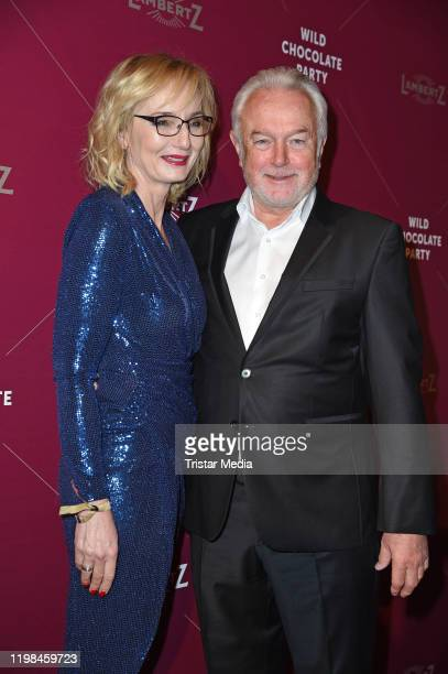 Wolfgang Kubicki and his wife Annette MarberthKubicki attend the red carpet arrival at Lambertz Monday Night Party 2020 at Alter Wartesaal on...