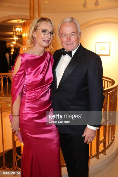 Wolfgang Kubicki and his wife Annette MarberthKubicki during the 67th Bundespresseball at Hotel Adlon on November 23 2018 in Berlin Germany