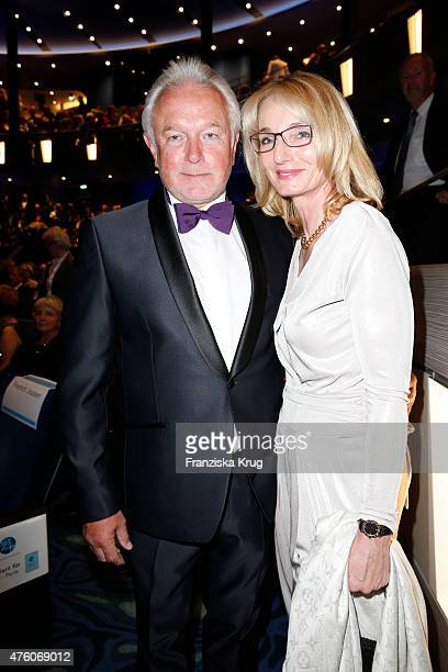 Wolfgang Kubicki and his wife Annette MarberthKubicki during the naming ceremony of the cruise ship 'Mein Schiff 4' on June 5 2015 in Kiel Germany
