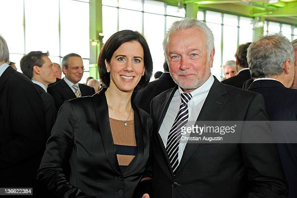 Wolfgang Kubicki and Katja Suding attend the 'Hamburger Abendblatt' New Year's Reception on January 9 2012 in Hamburg Germany