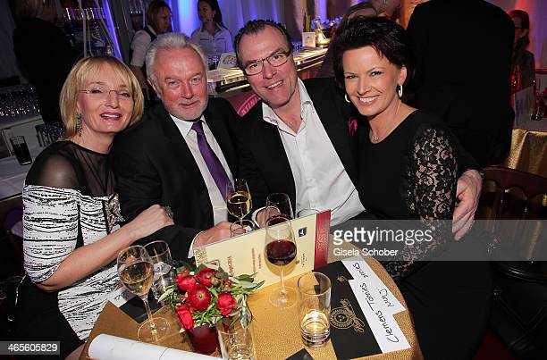 Wolfgang Kubicki and wife Annette, Clemens Toennies and wife Margit attend the Lambertz Monday Night at Alter Wartesaal on January 27, 2014 in...