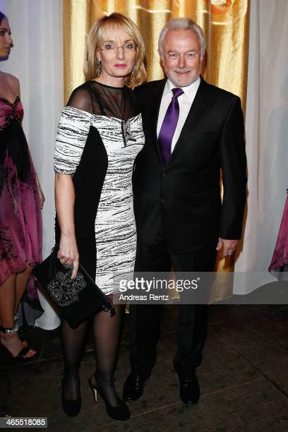 Wolfgang Kubicki and wife attend the Lambertz Monday Night at Alter Wartesaal on January 27 2014 in Cologne Germany