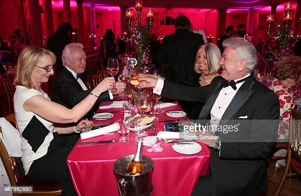 Wolfgang Kubicki Annette Kubicki Manuela Schmid Willi Weber during the Spring Ball Frankfurt 2015 at Palmengarten on March 28 2015 in Frankfurt am...
