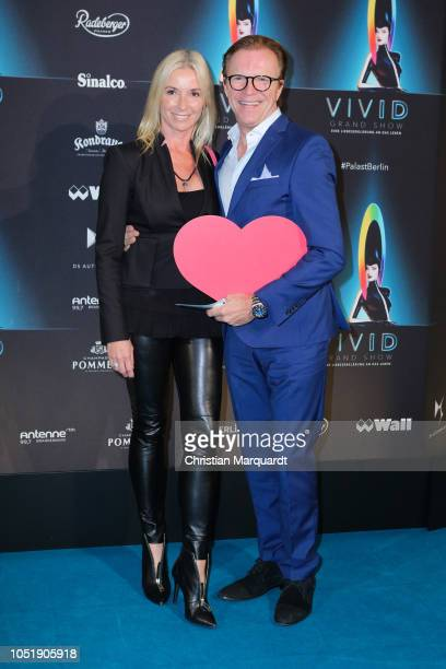 Wolfgang Lippert and Gesine Lippert attend the VIVID Grand Show premiere at FriedrichstadtPalast on October 11 2018 in Berlin Germany