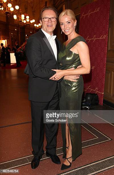 Wolfgang Lippert and his partner Gesine Schoenherr during the Semper Opera Ball 2015 at Semperoper on January 30, 2015 in Dresden, Germany.