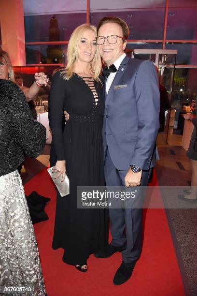 Wolfgang Lippert and his wife Gesine Lippert attend the 12th Hope Charity Gala at Kulturpalast on October 28, 2017 in Dresden, Germany.