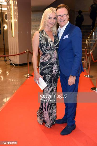 Wolfgang Lippert and his wife Gesine Lippert attend the 6th Schutzengel-Gala at The Westin Hotel on September 22, 2018 in Leipzig, Germany.