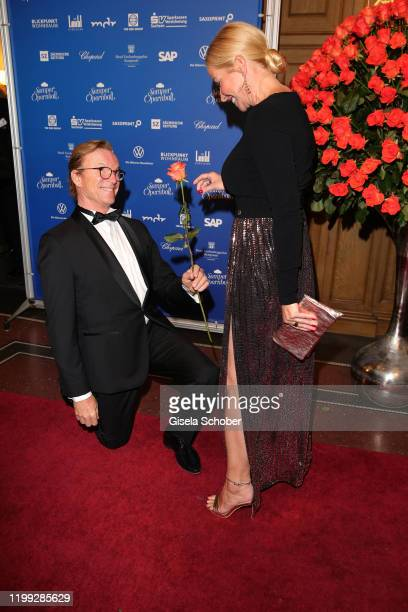 Wolfgang Lippert and his wife Gesine Lippert during the 15th Semper Opera Ball 2020 at Semperoper on February 7, 2020 in Dresden, Germany.