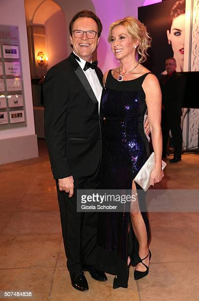Wolfgang Lippert and his wife Gesine Lippert during the Semper Opera Ball 2016 reception at Taschenbergpalais Kempinski on January 29, 2016 in...