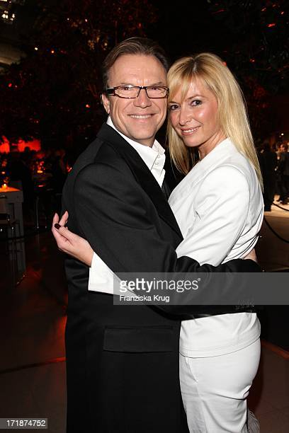Wolfgang Lippert and wife Gesine at the Party After The Mdr show Jose Carreras Gala in Leipzig