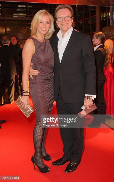 Wolfgang Lippert and wife Gesine Lippert attend the award ceremony of the 'BZ Culture Awards' given in the AxelSpringer publishing house on January...