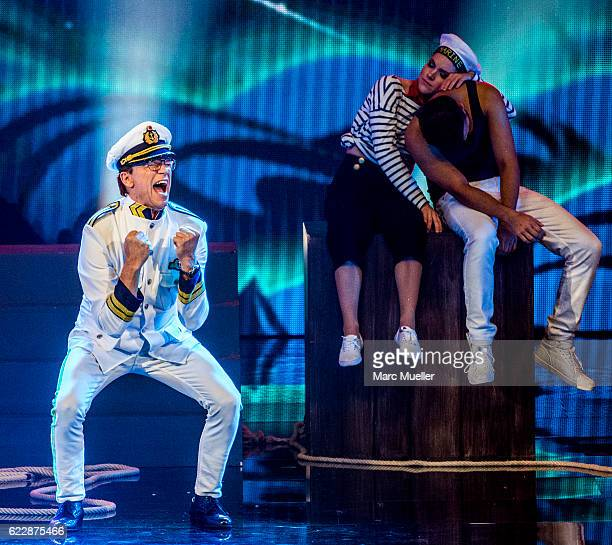 Wolfgang Lippert performs during the first live show of 'Deutschland tanzt' on November 12, 2016 in Munich, Germany. In the first show 16 celebrities...