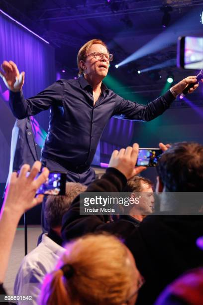 Wolfgang Lippert performs during the Frank Zander Charity Dinner For Homeless on December 19, 2017 in Berlin, Germany.