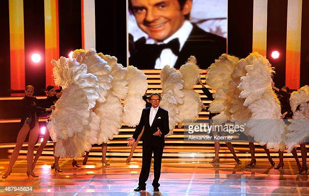 Wolfgang Lippert performs during the national tv show 'Willkommen bei Carmen Nebel' at TUI Arena on March 28 2015 in Hanover Germany