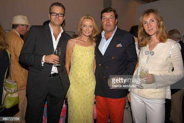 Wolfgang Ludes Bettina Burda Franz Burda and Antonia Ludes attend The Parrish Art Museum Midsummer Party at Parrish Art Museum on July 9 2005 in...
