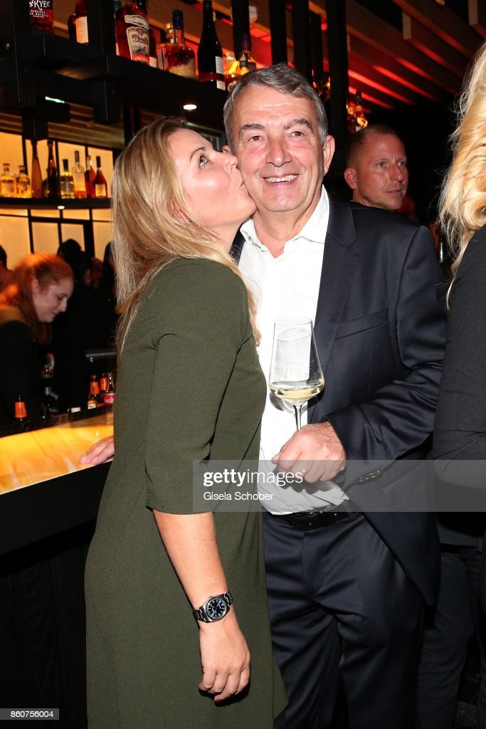 Wolfgang Niersbach and his girlfriend Marion Popp during the grand opening of Roomers & IZAKAYA on October 12, 2017 in Munich, Germany.