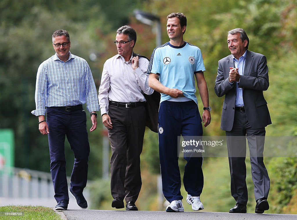 Wolfgang Niersbach President Of The German Football Association Dfb Team Manager Oliver Bierhoff