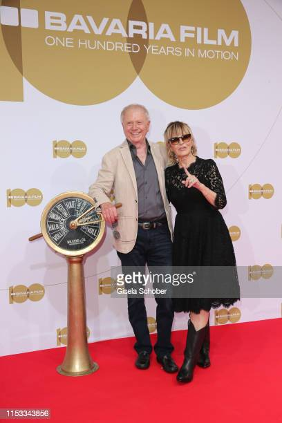 Wolfgang Petersen and his wife Maria BorgelPetersen attend the Bavaria Film Reception One Hundred Years in Motion on the occasion of the 100th...