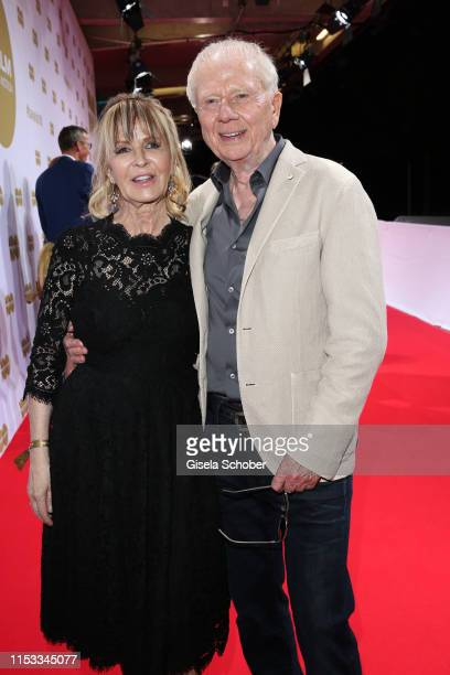Wolfgang Petersen and his wife Maria BorgelPetersen during the Bavaria Film Reception One Hundred Years in Motion on the occasion of the 100th...