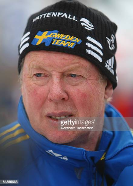 Wolfgang Pichler coach of Sweden looks on during the men pursuit event of the IBU Biathlon World Cup on January 18 2009 in Ruhpolding Germany