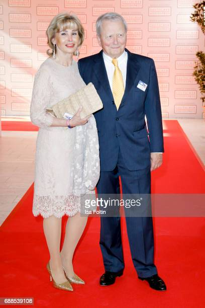 Wolfgang Porsche and his partner Claudia Huebner during the German Media Award 2016 at Kongresshaus on May 25 2017 in BadenBaden Germany The German...