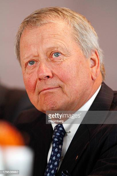 Wolfgang Porsche chairman of Porsche SE pauses during a news conference at the company's car production plant in Leipzig Germany on Tuesday Oct 18...