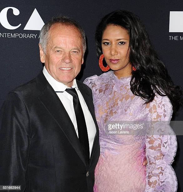 Wolfgang Puck and Gelila Assefa attend the 2016 MOCA Gala at The Geffen Contemporary at MOCA on May 14 2016 in Los Angeles California