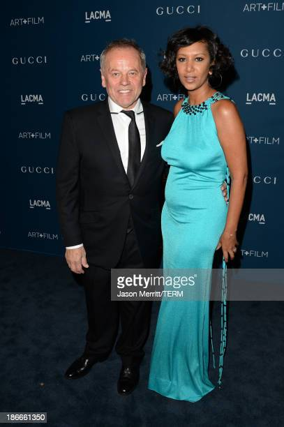 Wolfgang Puck and Gelila Assefa Puck attend the LACMA 2013 Art Film Gala honoring Martin Scorsese and David Hockney presented by Gucci at LACMA on...